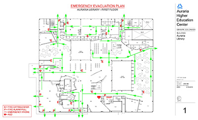 First Floor Emergency Evacuation Map