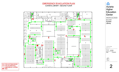 Second Floor Emergency Evacuation Map