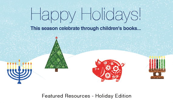 Promotional image for homepage headline: Featured Resources: The Holidays Through Children's Books