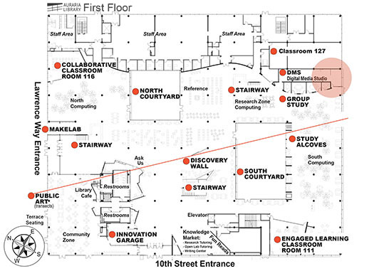 King Faculty Room location map