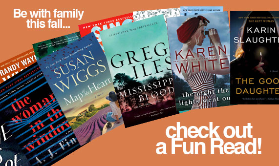 Promotional image for homepage headline: Be with family this fall... Check out a Fun Read!
