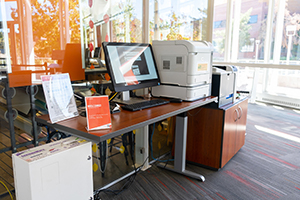 Printing station inside the cafe