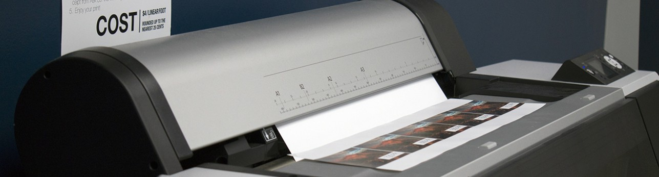 Large format high resolution color printer at CTC