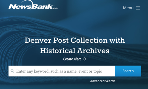 Denver Post Historical Archive Database List