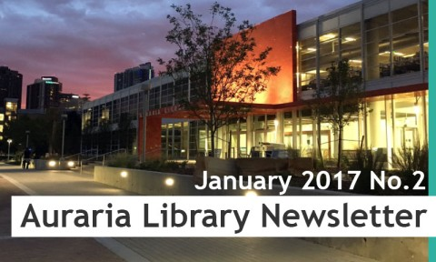 Auraria Library Newsletter January 2017 No.2