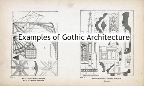 Plate from Examples of Gothic Architecture