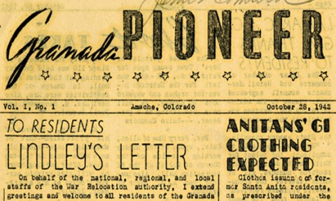 Image of from page for Granada Pioneer newspaper from 1942.