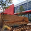 Andy Dufford's native colorado stones installation at auraria library